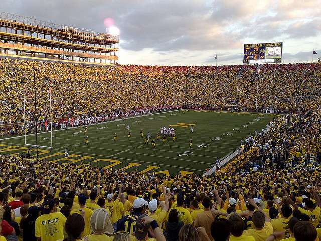 Michigan Student Section - Taken by Flickr user grgbrwn