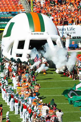 Miami Football (via Flikr user @techyourpicture)