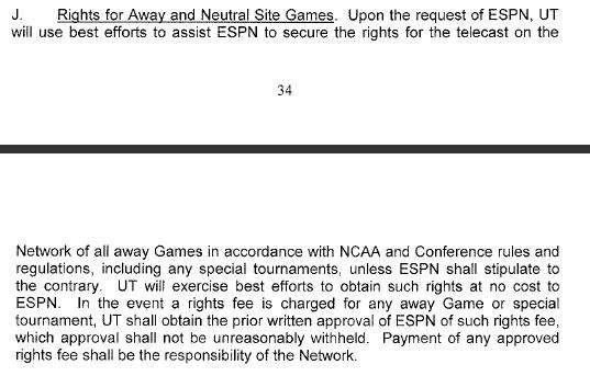 Texas' Contract with ESPN for the Longhorn Network