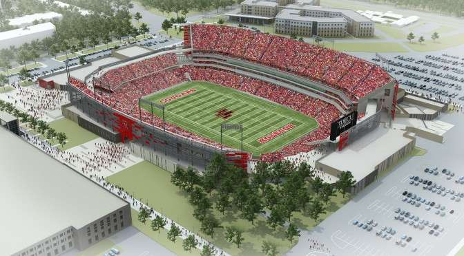 Rendering of TDECU Stadium at University of Houston (photo credit: University of Houston)
