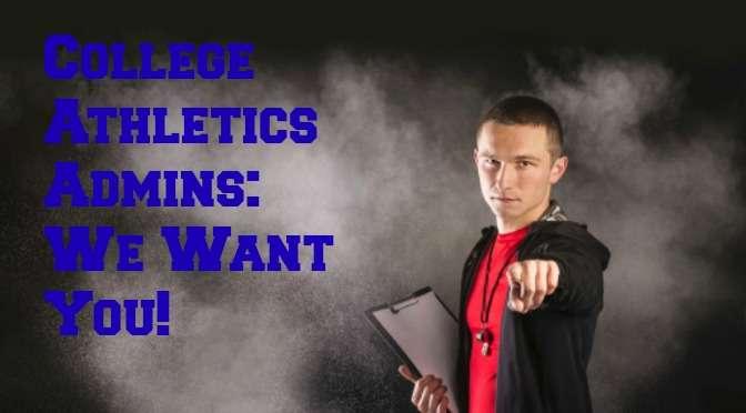College athletics admins