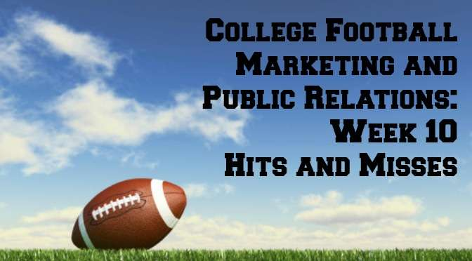 College football marketing Week 10
