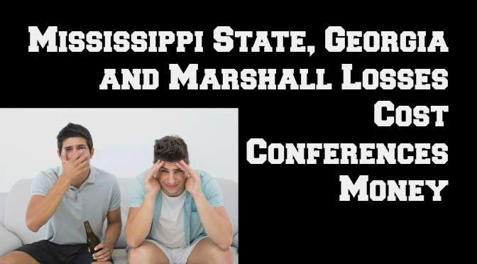 Mississippi State, Georgia and Marshall Losses Cost Conferences Money