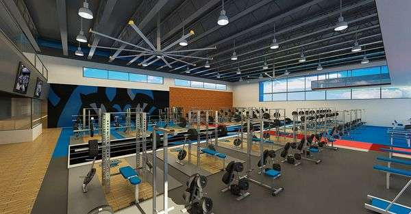 Rendering of Georgia State's new football strength and conditioning facility