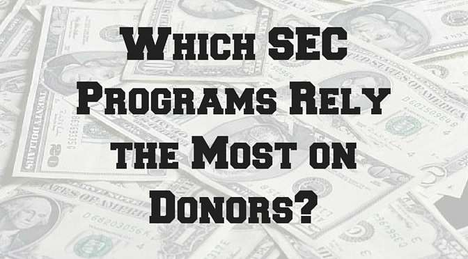 Which SEC Programs Rely the Most on Donors?