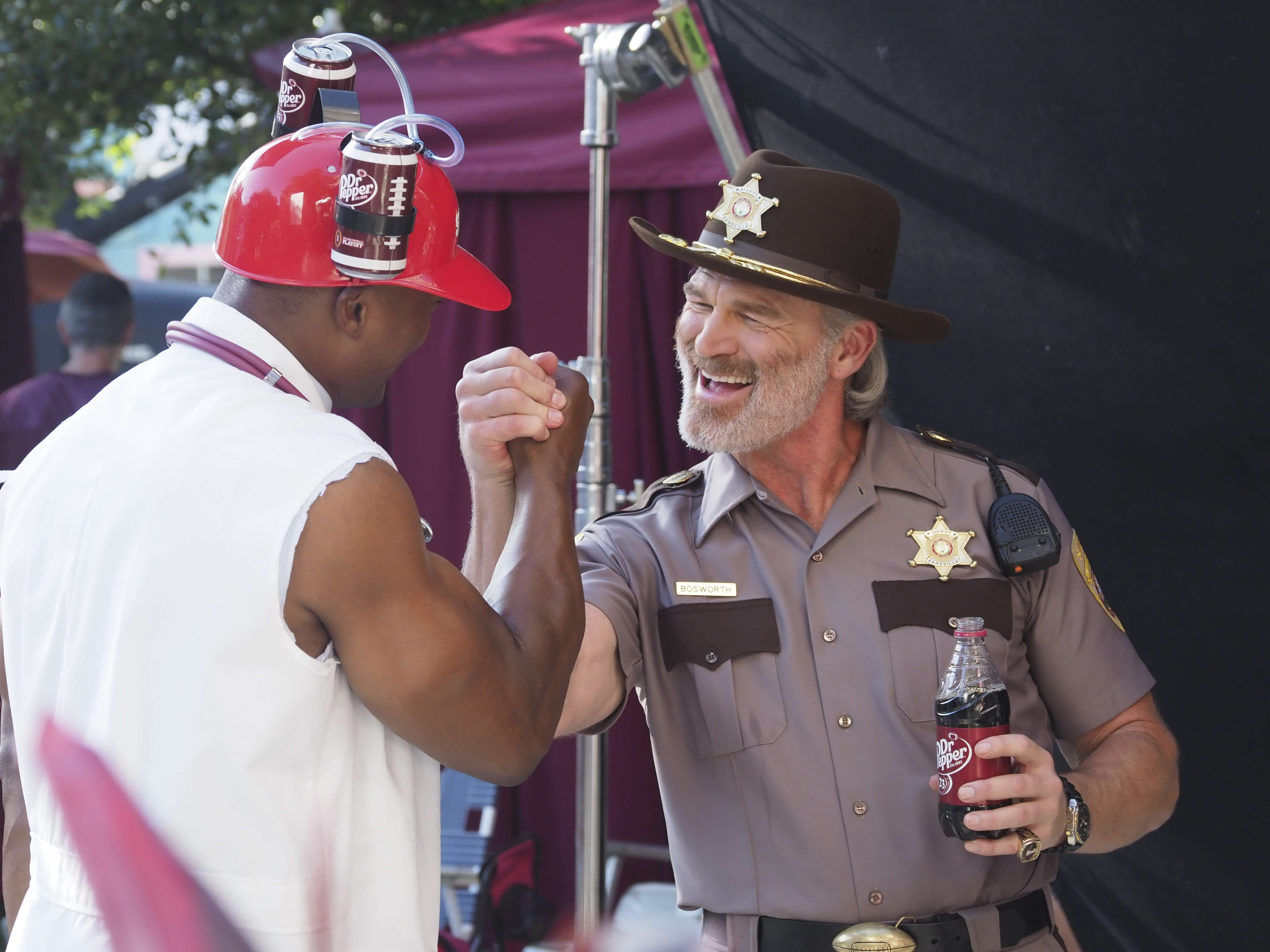 Fansville, Brian Bosworth, Eddie George, Dr. Pepper
