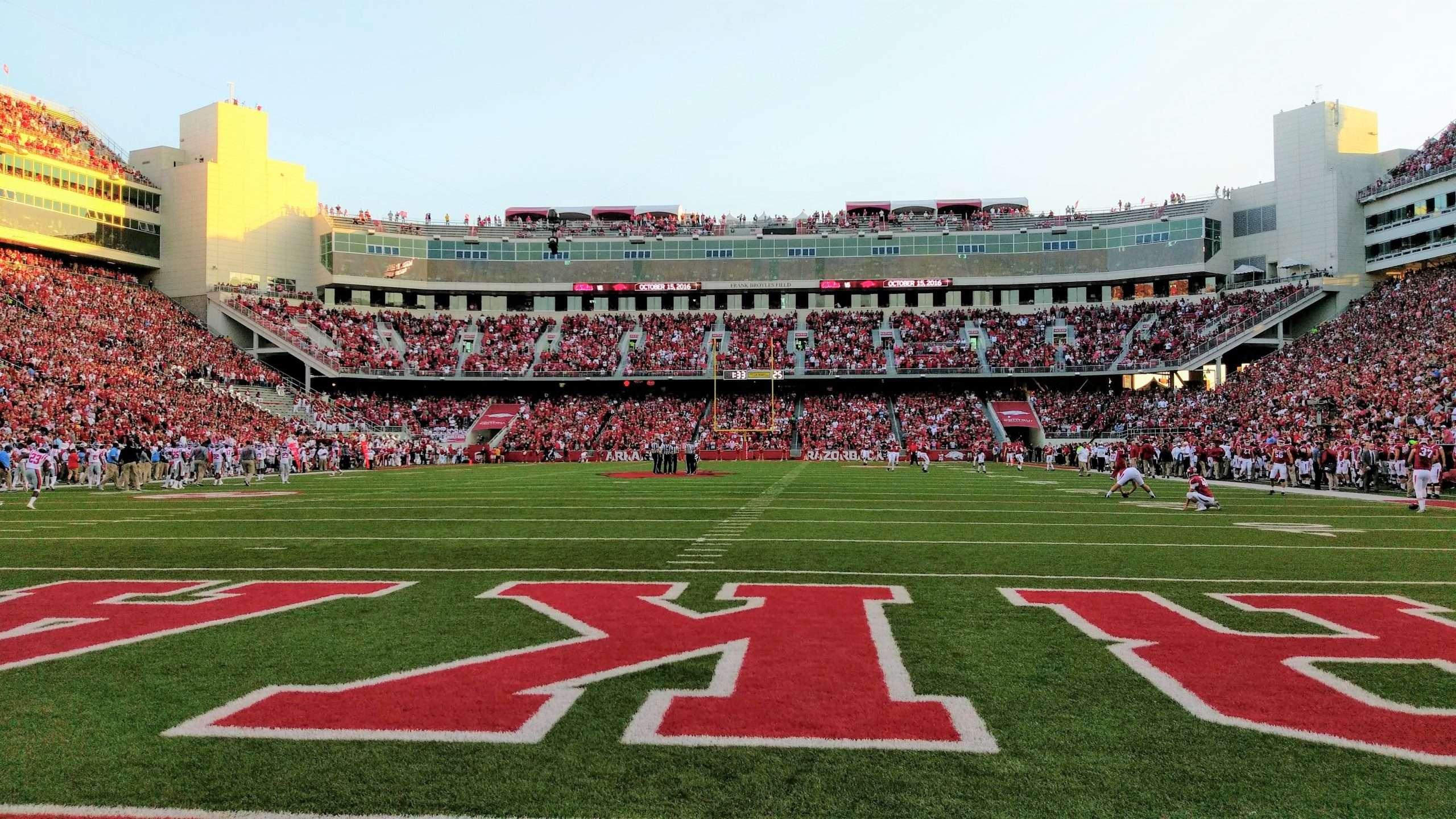 Arkansas Razorback football stadium