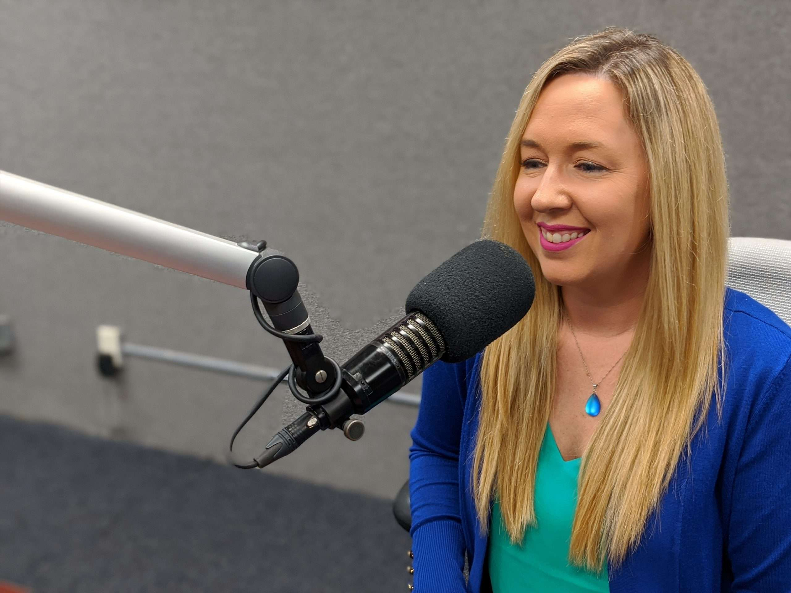 Kristi Dosh podcasting